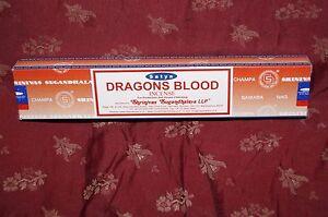 Details about Satya DRAGONS BLOOD Nag Champa Incense one box 15g Dragon's  R-Expo FREE SHIPPING