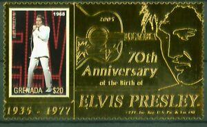 Nouvelle Mode Grenade 2006-elvis Presley - 70. Anniversaire-the King-gold Film-nº 5700 Doux Et Doux