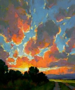 Original-Fine-Art-Oil-Painting-by-David-Mensing-039-Refreshed-and-Be-Well-039-24-034-x20-034