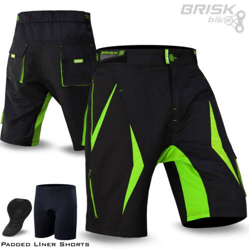 Mtb short homme vélo pantalon amovible compression rembourré court calibration
