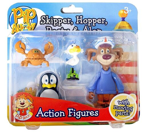 3 Ans PIP Ahoy Lot de 4 figurines Skipper Hopper Moule /& Alan Brand New