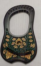 BRAND NEW LYRA HARP10 METAL STRINGS ROSEWOOD HAND ENGRAVED BLACK COLOR/LYRE HARP