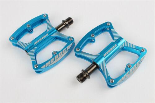 MERACO Mountain Bike Pedals 9//16/'/' Flat Platform Aluminum Sealed 3 Bearing Pedal
