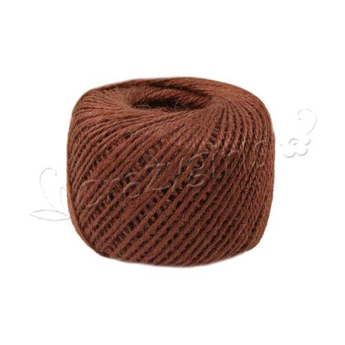 50M Wrap Gift Link Paper Tag Jute Burlap Ribbon Twine Rope Cord String DIY 2MM S