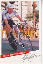 CYCLISME carte  cycliste PETER STEVENHAAGEN équipe PDM 1986