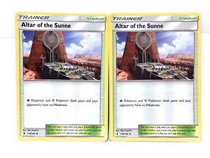 2x-Autel-de-The-Sunne-118-145-Pokemon-Soleil-amp-Lune-Gardiennes-Rising-Trainer-NM