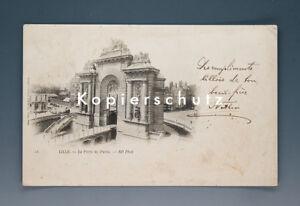 Ansichtskarte-LILLE-LA-PORTE-DE-PARIS-um-1899