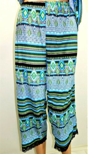 Just Love Women Plus Size 1x 2x 3x PJ Set Pajama Sleep Wear Black Blue Green
