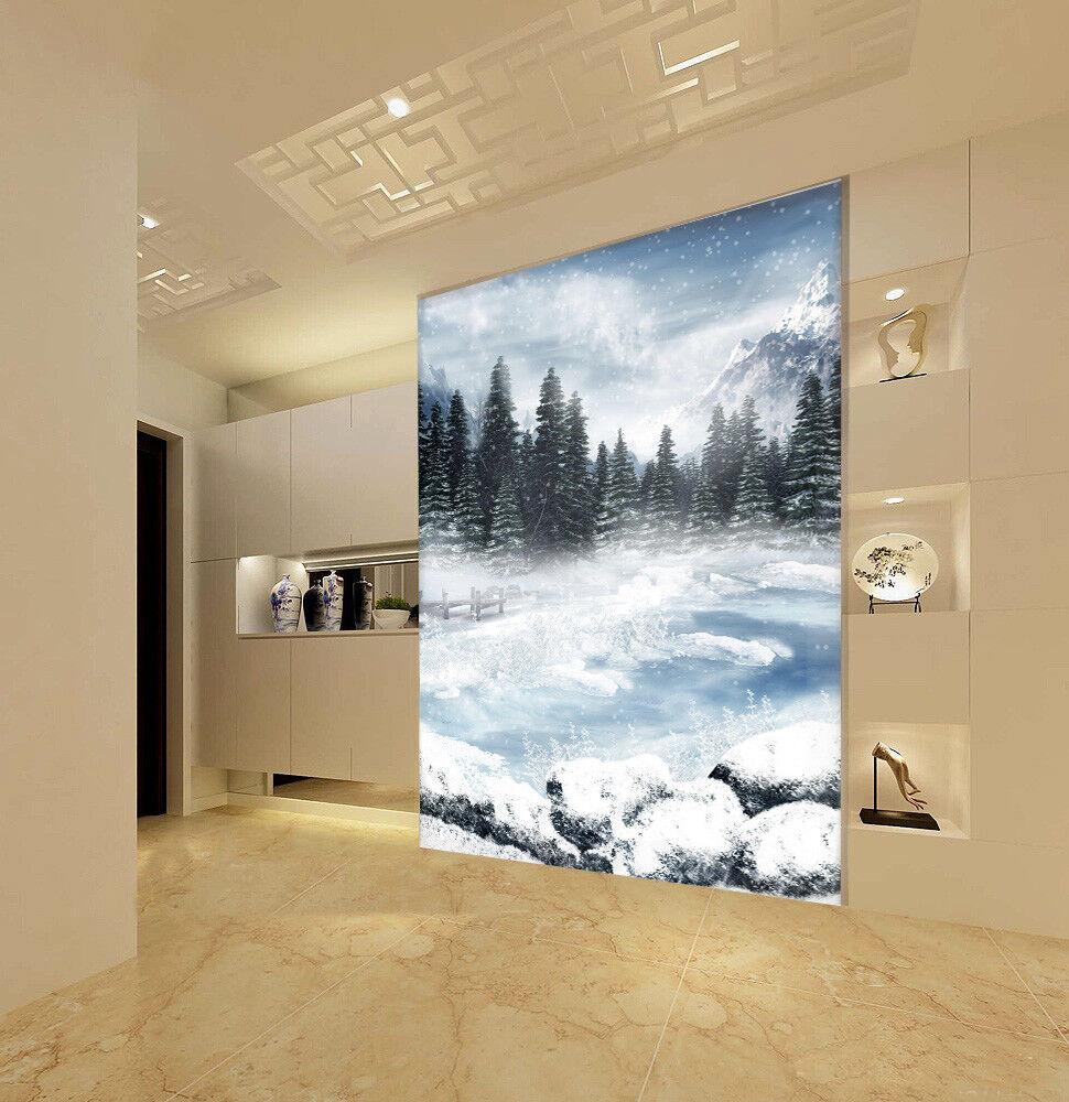 3D Woods Schneesee 587 Tapete Tapeten Mauer Foto Familie Tapete Wandgemälde DE