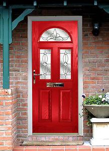 Front Door Red red composite doors - made to measure - external grp composite