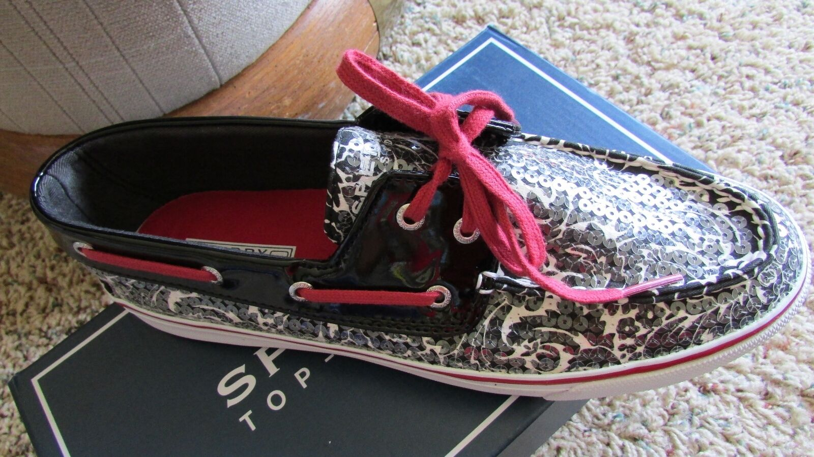 NEW Schuhe SPERRY TOP-SIDER BISCAYNE BLACK SEQUIN BOAT Schuhe NEW Damenschuhe 6.5 737ec0
