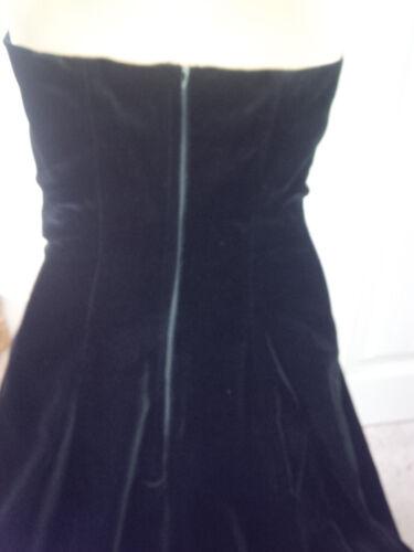 Vintage Eu36 Black Ashley Laura 10 Uk8 Worn Velvet Never Ball Heavy Cotton Gown Rr6HvRx