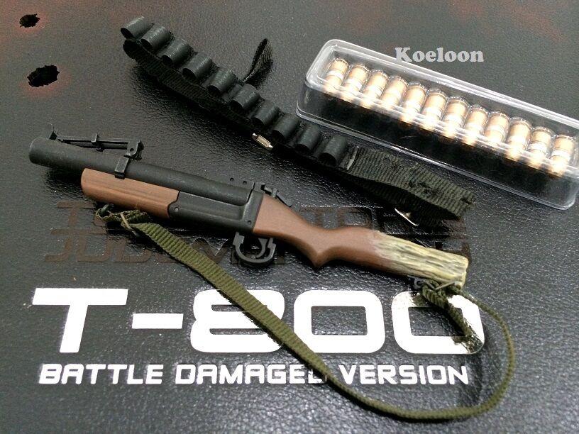 Hot Toys DX13 Terminator 2 T800 Battle Damaged 1 6 Grenade Launcher Bullets Belt