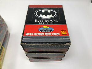 1991 TOPPS STADIUM CLUB BATMAN RETURNS WAX BOX 36 PACKS FREE SHIPPING