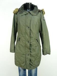 donna Gaastra taglia Pure Cappotto P cappuccio 6356 Verde Luxury M pelliccia R e Con T6dwwZUqx4