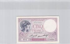 France 5 Francs Violet 11.5.1933 Alphabet A.54793 n° 1373690904 Pick 72e