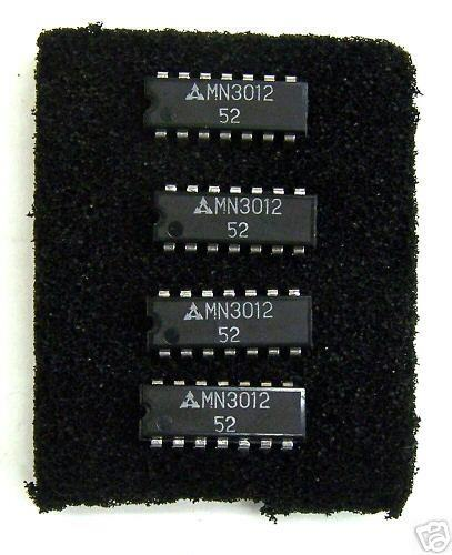 FOUR NOS Panasonic MN3012 198 Stage 3 Tap Analog BBD Bucket Brigade ICs. B111