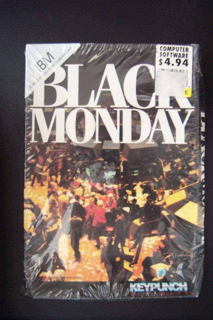 Black Monday Unopened IBM 256k 2.0 DOS PC Game