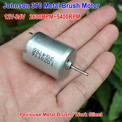 DC 3V 6V 9V 12V 4700RPM Ball Bearing Mini 24mm Round Metal Brush RF-370 Motor
