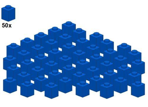 1x1 3005-02 Blue - Stein Blau Bricks 50Stk Used LEGO®