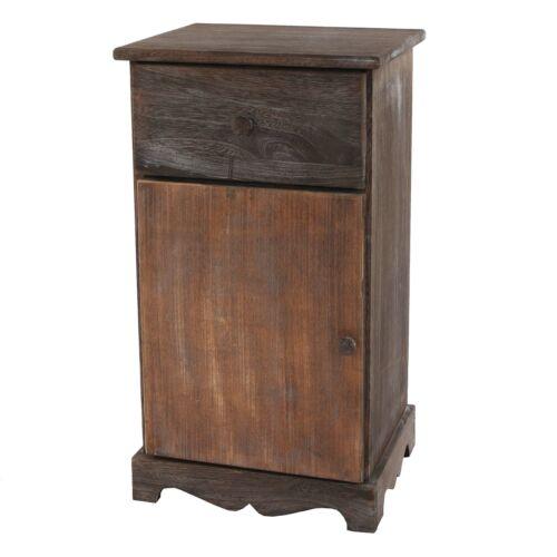 Vintage braun Shabby-Look 63x35x29cm Kommode Beistelltisch Telefontisch