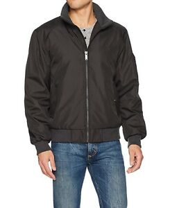 NEW Mens CALVIN KLEIN PEWTER RIP STOP CLASSIC BOMBER JACKET