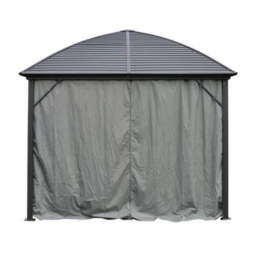 ALEKO Polyester Curtain Panels for Hardtop Roof Gazebo 10X10 feet