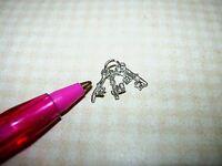 "Miniature ""Warwick"" Pewter Keys on Ring for DOLLHOUSE 1/12"