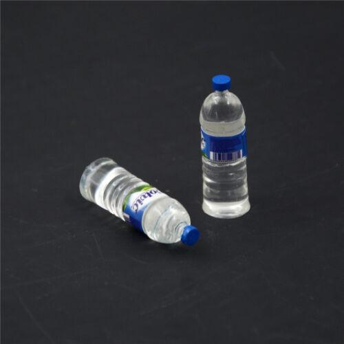 2x bouteille d/'eau potable miniature DollHouse 1:12 jouet accessoire PL