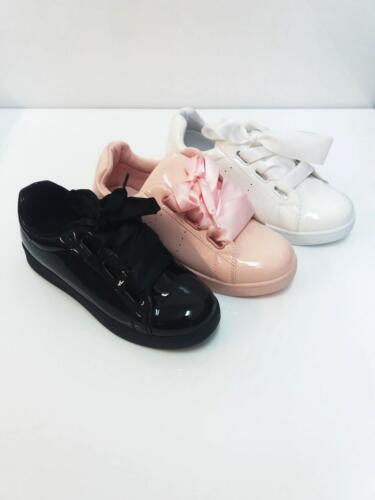 WOMEN LADIES FASHION SNEAKERS LACE UP FLATS TRAINERS SHOES SIZE 3-8