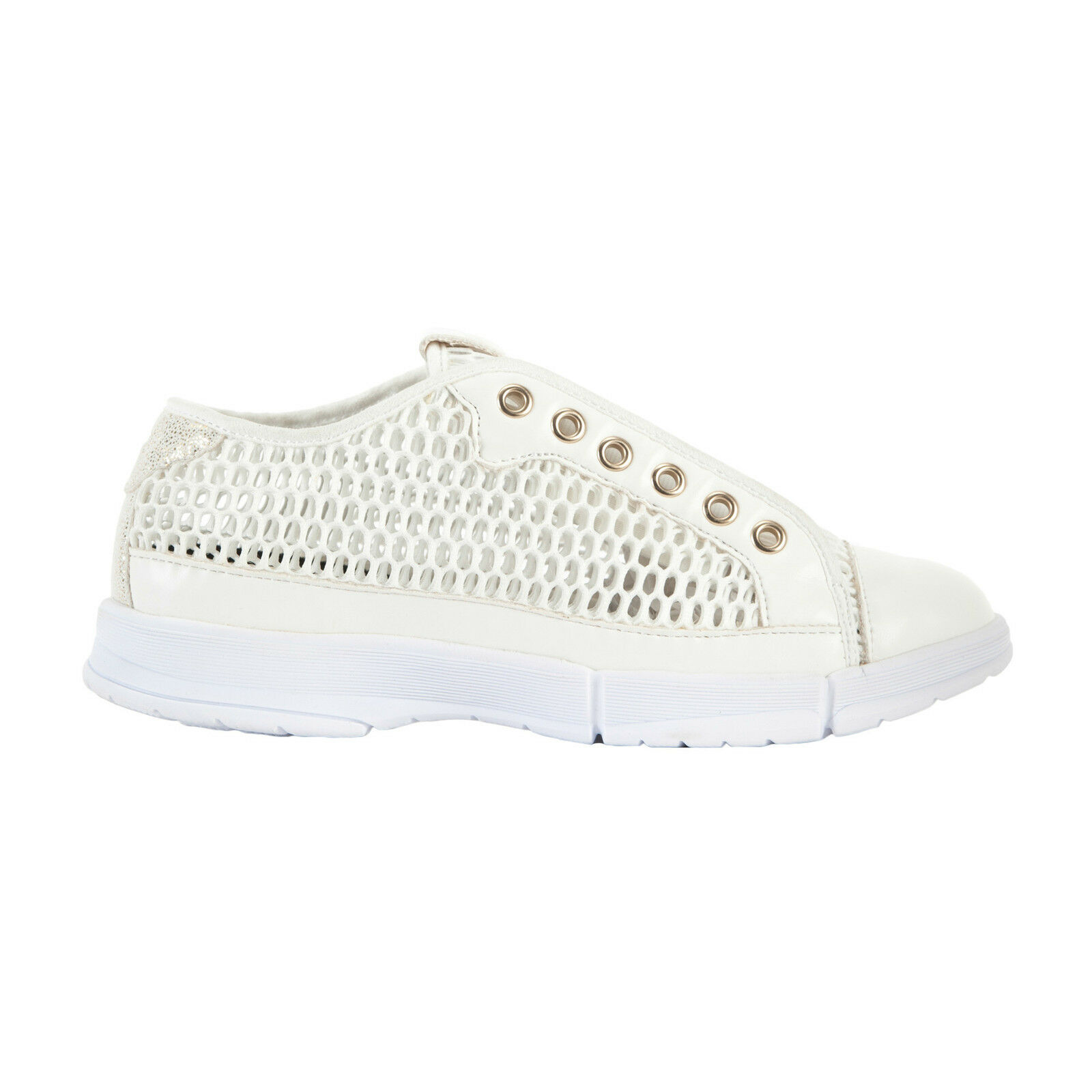 FROTdy Scarpa Damenschuhe S6WFSL1W Sneaker in rete di mesh colore bianco NEW