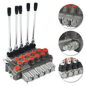 Double-Acting-Cylinder-Spool-5-Spool-Hydraulic-Directional-Control-Valve-11gpm