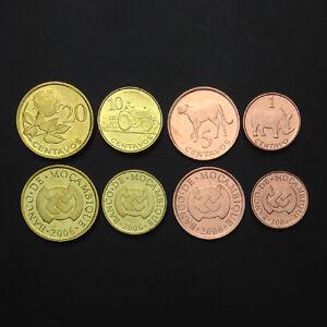M-6-Mozambique-Set-4-Coins-1-5-10-20-Centavos-2006-UNC