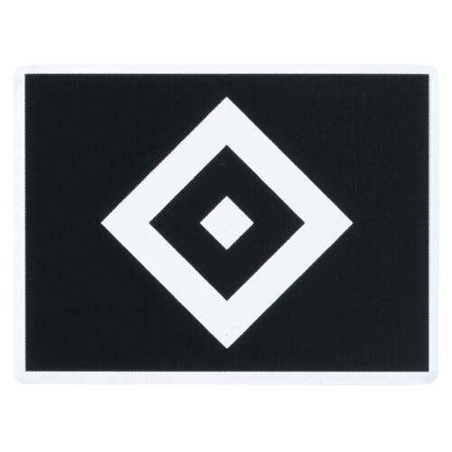 Aufkleber Sticker Raute transparent schwarz Hamburger SV HSV