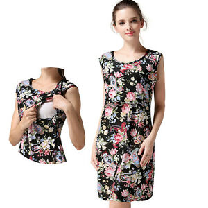 9925aa4d64d93 Floral Maternity Dresses For Pregnant Women Summer Breastfeeding ...