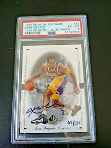 1999 SP Authentic BUYBACK Kobe Bryant On Card Auto PSA 6 Ex- Mt /132 Rare Lakers
