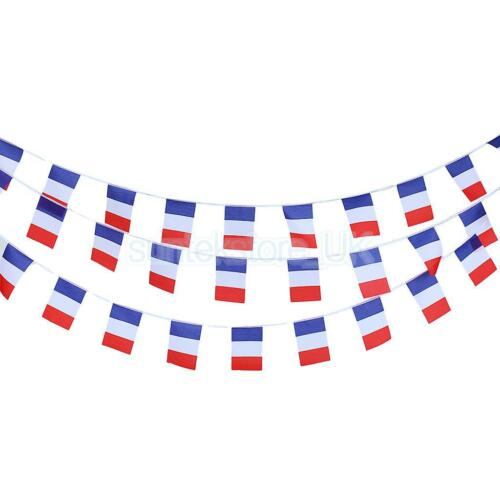 10M Vintage French Frence Flag Bunting Retro Banner Garland Party Decoration