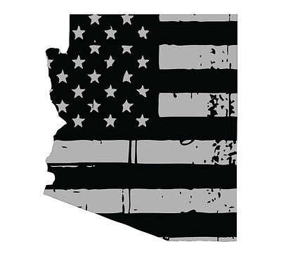 State of Kentucky various sizes Tattered USA Flag Black//Gray window decal