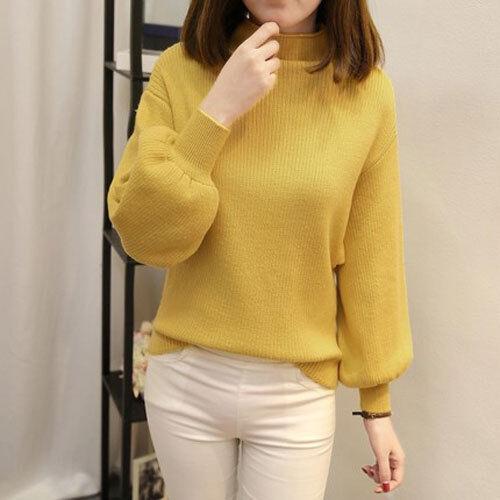 Women Loose Knitted Sweater Jumper Knitwear Long Sleeve Outwear Tops Pullover FZ