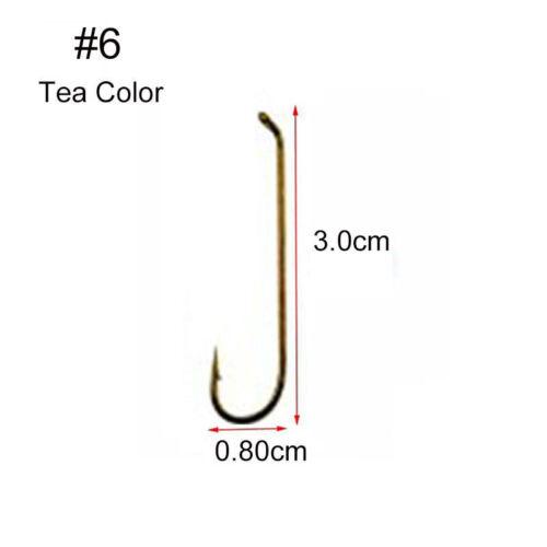 50pcs //230pc Long Shank Fly Tying Fishing Hook 79580 Tea High Carbon Steel Hooks