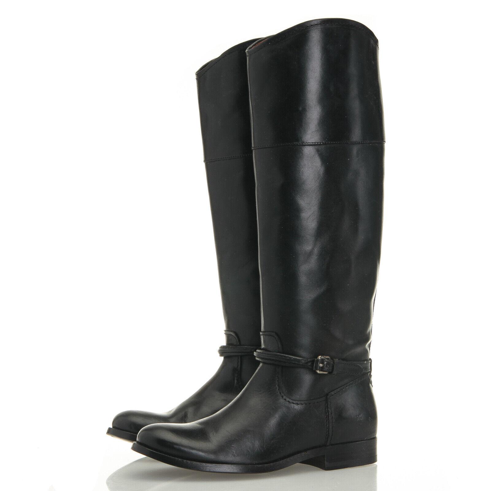 saldi Frye Melissa Melissa Melissa Seam Tall nero Leather Equestrian Riding stivali - Donna  5.5 M  acquistare ora