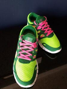 New Women s Nike Free Run+2 Running Shoes Electric Green 443816 336 ... 62841f6ec