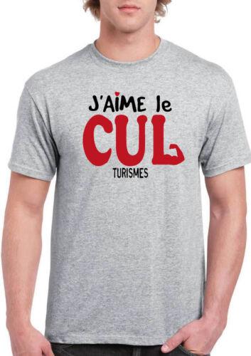 tee shirt Homme aime cul culturisme