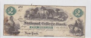 1864-Bryant-amp-Stratton-039-s-National-College-Bank-Note-2-New-York