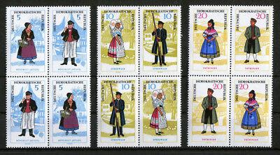 Offen Ddr W Zd 144,146,148 Vb Zusammendrucke Im Viererblock Postfrisch Michel 120 € Diverse Philatelie