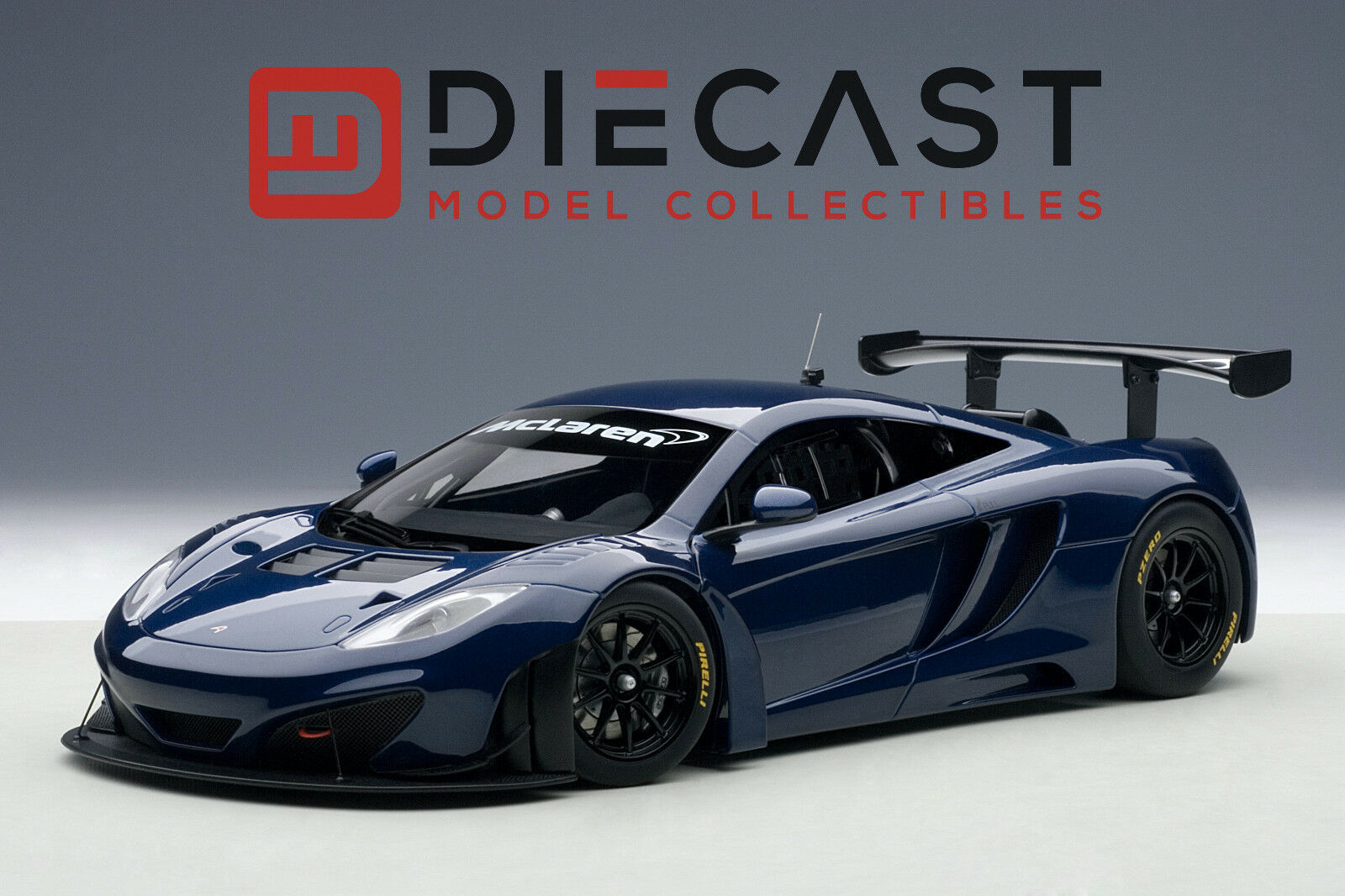 AUTOART 81344 MCLAREN 12C GT3, AZURE blueE 1 18TH SCALE
