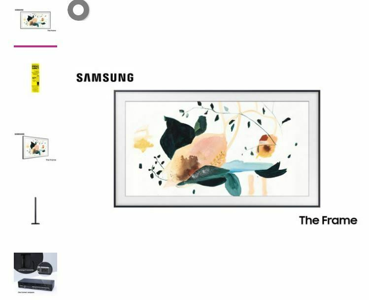 shanmopda-92 SAMSUNG 65 Class 4K UHD (2160P) The Frame QLED Smart TV QN65LS03T 2020