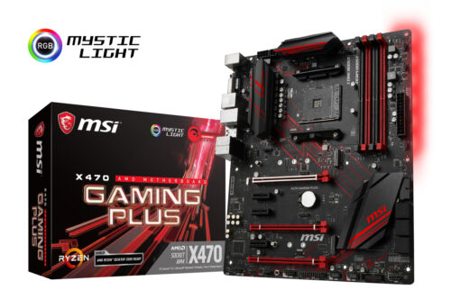 MSI X470 GAMING PLUS Socket AM4 AMD X470 SATAIII 6Gb//s USB3.1 ATX Motherboard