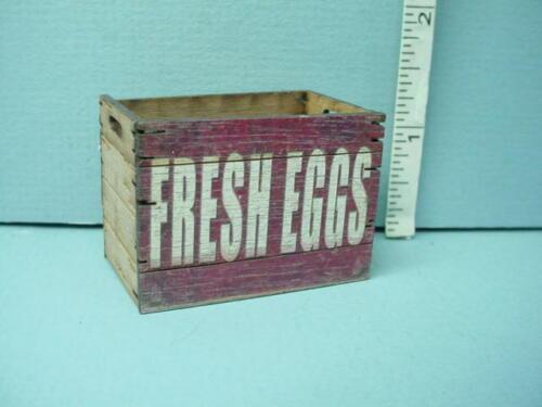 "Miniature Tall Assembled Crate /""Fresh Eggs/"" Laser Creations 1//12"