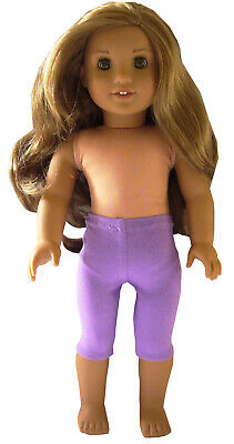"Orchid Purple Bike Shorts Leggings handmade for 18/"" American Girl Doll Clothes"